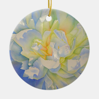 Morning Glow - white peony Christmas Ornament