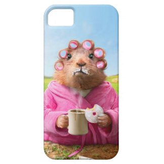 Morning Groundhog with Breakfast Donut and Coffee iPhone 5 Case