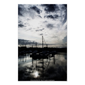 Morning Harbour Poster