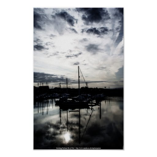 Morning Harbour Posters