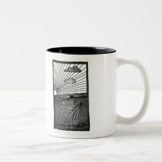 """Morning has Broken"" Two-Tone Coffee Mug"