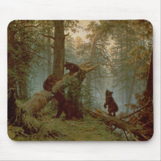 Morning in a Pine Forest, 1889 Mouse Mat