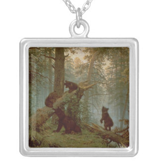 Morning in a Pine Forest, 1889 Silver Plated Necklace