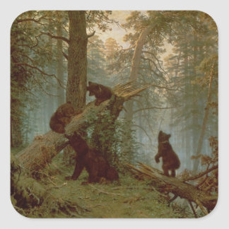 Morning in a Pine Forest, 1889 Square Sticker