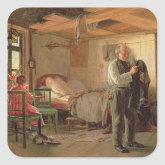 Morning in a Porter's Lodge, 1874 Square Sticker