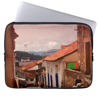 Morning In Taxco Street Laptop Sleeve