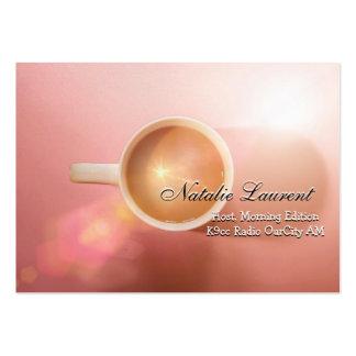 "Morning Java Elegant  Professional 3.5"" x 2.5"" Business Card"