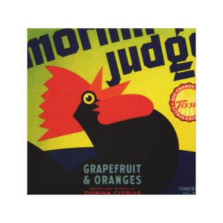Morning Judge Grapefruit & Orange Crate Label Canvas Print