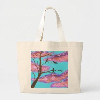 Morning Lessons Birdies In Tree Jumbo Tote Bag