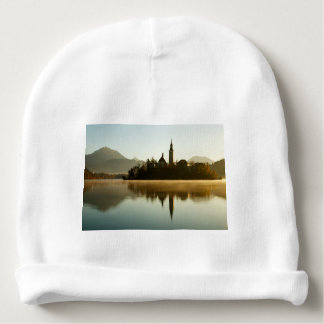 Morning light at Lake Bled Baby Beanie