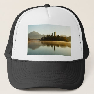 Morning light at Lake Bled Trucker Hat