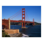 Morning light bathes the Golden Gate Bridge Poster