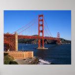 Morning light bathes the Golden Gate Bridge Print