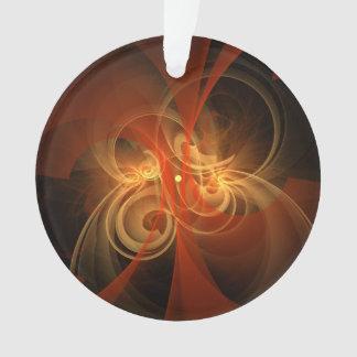 Morning Magic Abstract Art Acrylic Circle Ornament