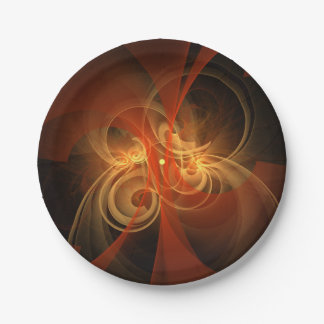 Morning Magic Abstract Art Paper Plate