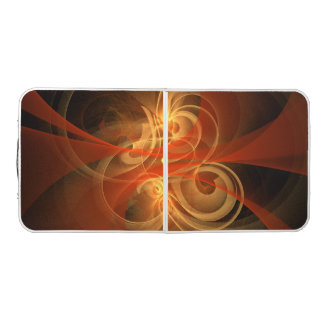 Morning Magic Abstract Art Pong Table