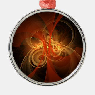Morning Magic Abstract Art Round Christmas Ornament