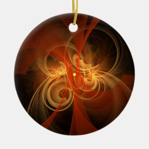 Morning Magic Abstract Art Round Ornament