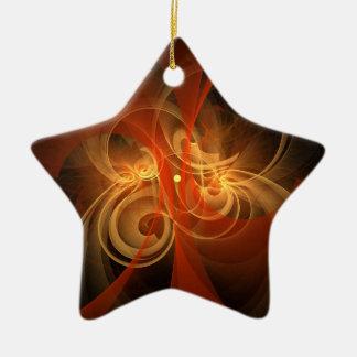 Morning Magic Abstract Art Star Ornament