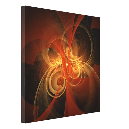 Morning Magic Abstract Art Wrapped Canvas Print