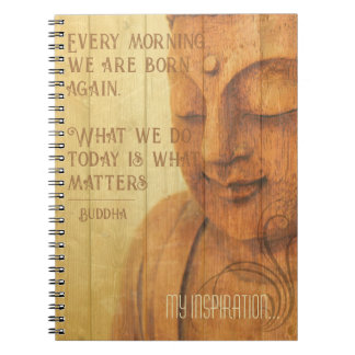 Morning Mantra Daily Affirmation Buddha Quote Notebooks