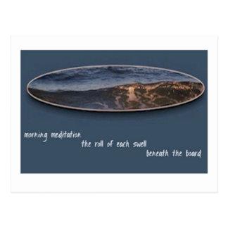 Morning Meditation Haiku Postcard