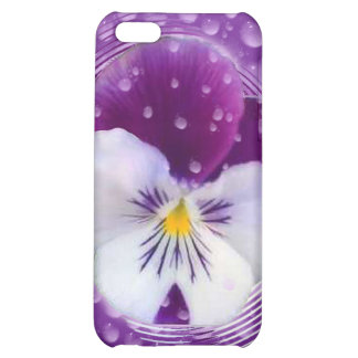 Morning Mist and Pansy Cover For iPhone 5C
