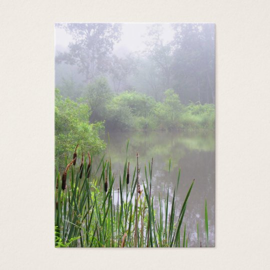 Morning Mist on the Pond ATC Business Card