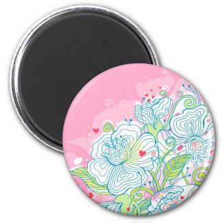 Morning Mist Over My Heart 6 Cm Round Magnet