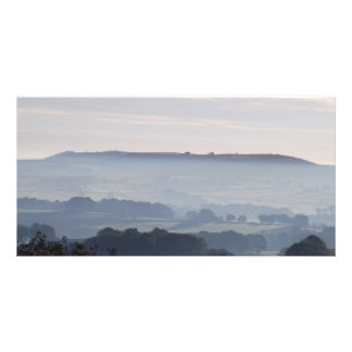 morning mist photo greeting card