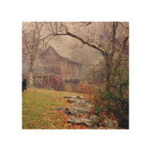 Morning Mist Wood Canvases