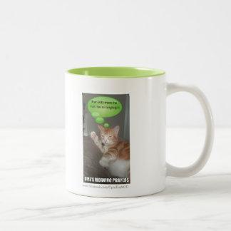 Morning Morning Go AWAY! Two-Tone Coffee Mug