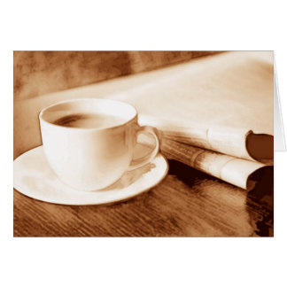Morning News and Coffee Cards