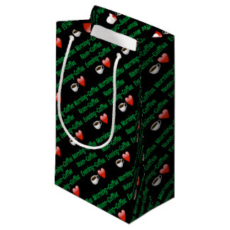 Morning Noon Night, COFFEE! Gift Wrapping Small Gift Bag