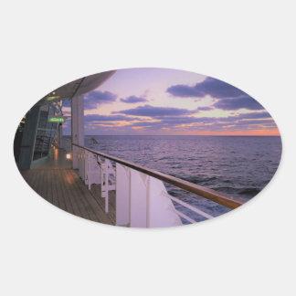 Morning on Board Oval Sticker