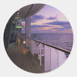 Morning on Board Rnd Round Sticker