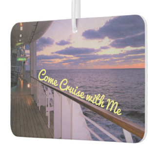 Morning on Deck Cruise with Me Car Air Freshener