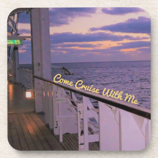 Morning on Deck Cruise with Me Custom Coaster