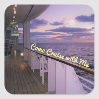 Morning on Deck Cruise with Me Square Sticker