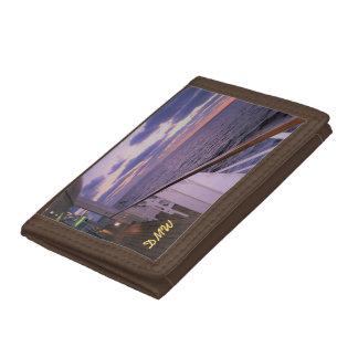 Morning on Deck Monogrammed Tri-fold Wallets
