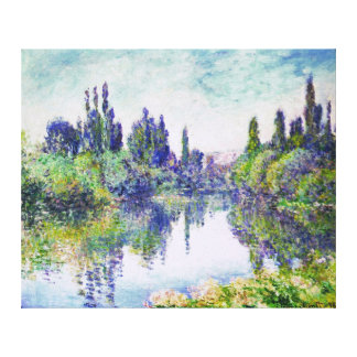 Morning on the Seine, by Claude Monet Canvas Print
