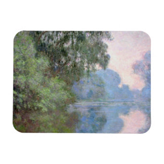 Morning on the Seine near Giverny by Claude Monet Magnet