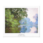 Morning on the Seine near Giverny Claude Monet Canvas Prints