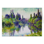 Morning on the Seine, near Vetheuil Claude Monet Note Card