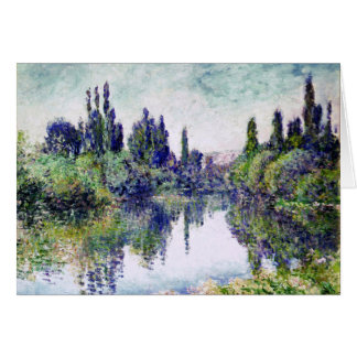 Morning on the Seine, near Vetheuil - Claude Monet Card