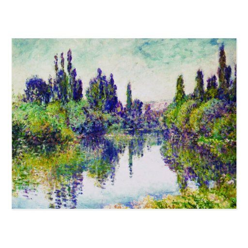 Morning on the Seine, near Vetheuil Claude Monet Post Cards