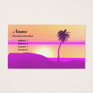 Morning Palm - Business Business Card