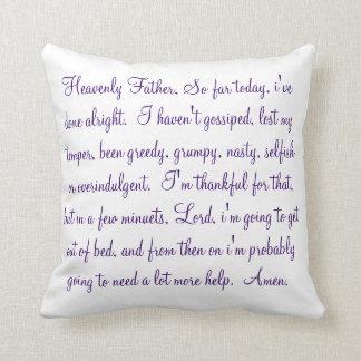 morning prayer pillow cushion