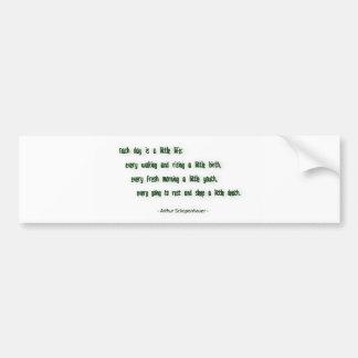 Morning Quote by Arthur Schopenhauer Bumper Sticker