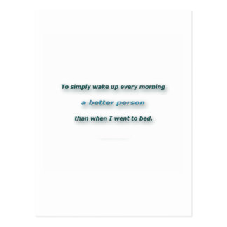 Morning Quote by Sidney Poitier - To simply wake.. Postcard